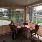Folienfenster Terrasse