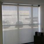 Hitzeschutz am Fenster durchsichtig